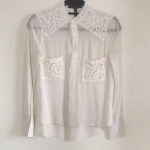 BCBG MAX AZRIA Lace blouse